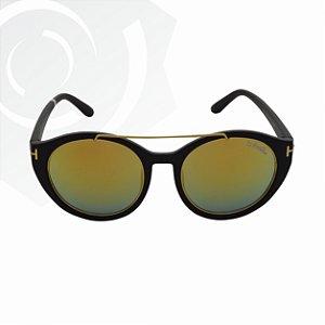 Óculos De Sol Dory Preto com Amarelo Di Fiori 23583