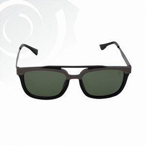 Óculos De Sol Cross Preto Lente Verde Escuro Black Skull