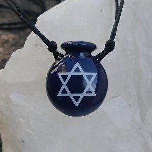 Aromatizador Pessoal Coleção Judaísmo - Símbolo Sagrado ESTRELA DE DAVI - Modelo CANTIL