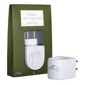 Aromatizador Elétrico Bipartido Branco - Aromatherapy - Via Aroma (Bivolt)