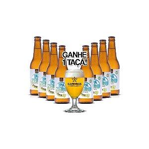 CAMPINAS IPA Zero - 355ml - Sem Álcool (8 unidades) e ainda GANHE UMA TAÇA!