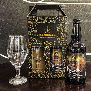 Kit de Cerveja Artesanal com 1 Andarilha English Oatmeal Stout 500ml + 1 Taça de Cerveja