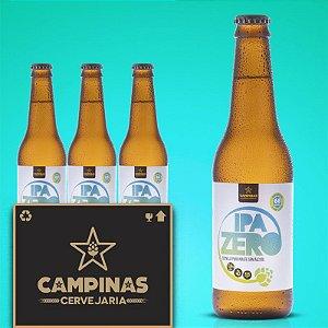 Caixa Fechada com 15 unid. da CAMPINAS IPA Zero - 355ml - Sem Álcool