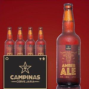 Caixa Fechada com 12 unid. da CAMPINAS American Amber Ale - 500ml