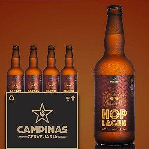 Caixa Fechada com 12 unid. da CAMPINAS American HOP Lager - 500ml