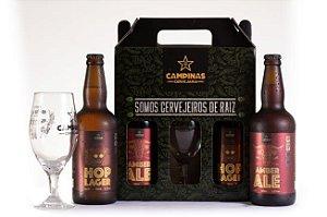 KIT de Cerveja Artesanal Ideal para um Churrasco - 2 Garrafas 500ml + Taça