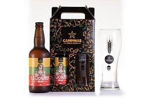 Kit de Cerveja Artesanal com 1 Legionária German Weizen - 500ml + 1 Copo de Cerveja de Trigo