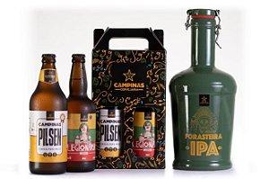 [PROMOÇÃO] KIT Iniciante de Cerveja Artesanal com Growler de Cerâmica de 2 Litros + German Pilsen 600ml + Legionária Weizen 500ml