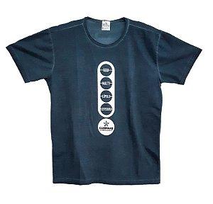 Camiseta Feminina Cervejaria CAMPINAS - Azul Estonada Ingredientes