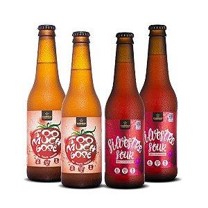 Kit de Cerveja Artesanal 4Pack com Cervejas Ácidas