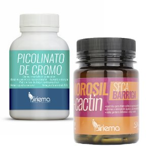 Kit  Picolinato de Cromo 1 UN  + 1 Morosil + Cactin 1 UN