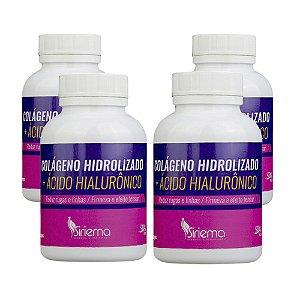 Kit Colágeno Hidrolisado + Ácido Hiarulônico 4 UN