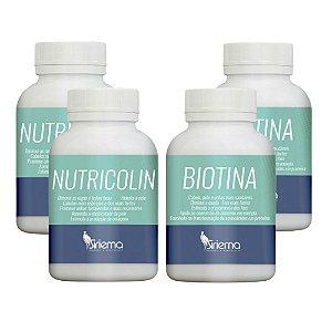 Kit Nutricolin 2 UN + Biotina 2 UN Cabelo Pele e Unhas
