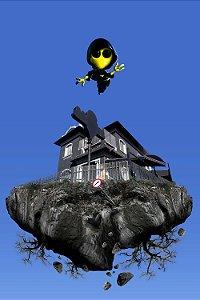 """Poster """"Asterboy & Casa Voadora"""" A3 Cochê"""