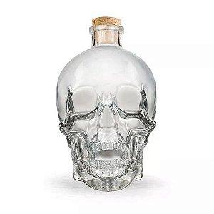 Porta Bebidas e Garrafa de Vidro Caveira Skull Importada