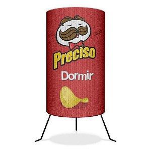 Luminária versão Pringles * Preciso Dormir Importada