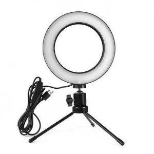 Ring Light Led de Mesa Iluminador com Tripé