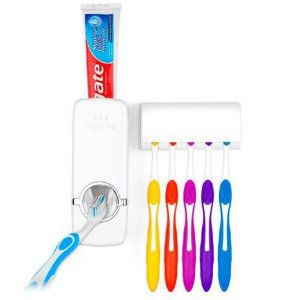 Dispenser e Suporte Automático Para Escova e Pasta de Dentes