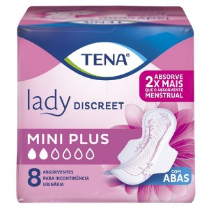 Tena Lady Discreet Mini Plus c/ 8 unidades.