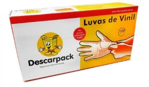 LUVA DE PROCEDIMENTO VINIL- DESCARPACK