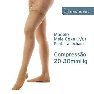 Meia de Compressão Unissex JOBST c/silicone  Relief 20-30 mmHg  Meia Coxa 7/8 Bege