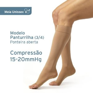 Meia de Compressão Unissex JOBST Relief 15-20mmHg Panturrilha 3/4 Bege
