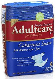 Fralda Geriátrica Adultcare Noturna Grande fardo c/ 48