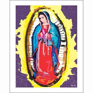 TIAGO CRUZ - GUADALUPE - Arte Digital - Tela impressa em canvas - 34 x 43