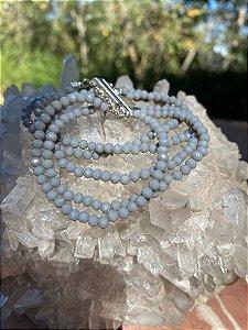 Conjunto de pulseiras cristais tchecos lapidados,com fecho de imã.