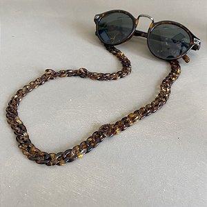 Cordão de óculos e cordão de máscara de elos em polímero.