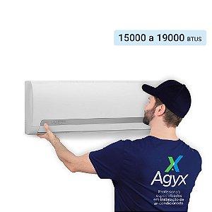 Instalação Ar-Condicionado Split Parede 15000 a 19000 Btus - Só Frio/ Quente e Frio/ Inverter