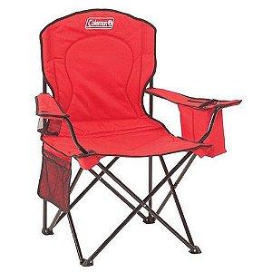 Cadeira dobravel com cooler vermelha