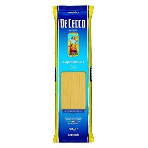 Macarrao italiano De Cecco capellini 500g