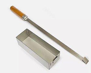 Smoke box para defumação inox com cabo