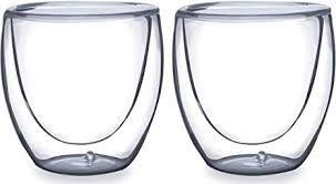 Dupla de copos para café de vidro - parede dupla