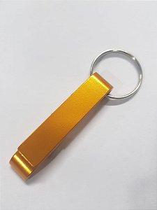 Chaveiro abridor de garrafas Tamaru Gourmet amarelo - personalizável