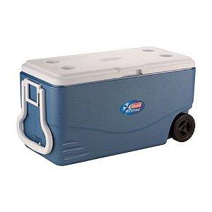 Cooler termico 100 qt (95L) Xtreme  azul c/ rodas