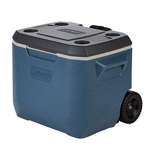 Caixa Térmica 50Qt 47,3 Litros Azul C/Rodas - Coleman