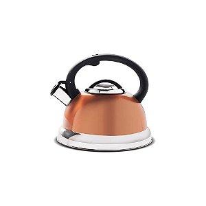 Chaleira Com Apito Em Aço Inox 2.7 Litros Cobre - Brinox