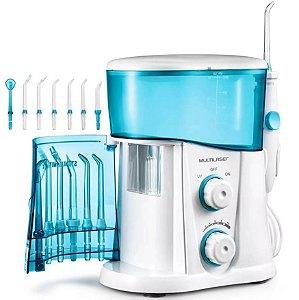Irrigador Oral Balcão Com Compartilhamento Uv 1L Branco/Azul - Multilaser