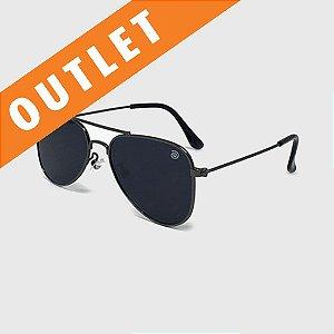 [OUTLET] Óculos de Sol Infantil com Proteção UV400 Aviador Preto