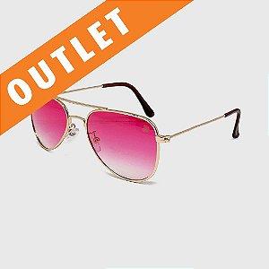 [OUTLET] Óculos de Sol Infantil com Proteção UV400 Aviador Pink