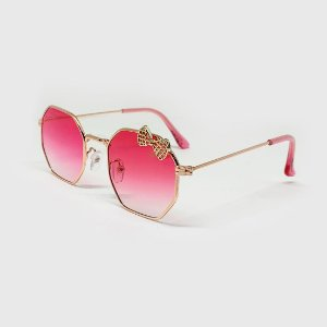 Óculos de Sol Infantil com Proteção UV400 Laço Pink