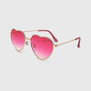 Óculos de Sol Infantil com Proteção UV400 Coração Pink