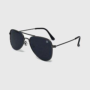 Óculos de Sol Infantil com Proteção UV400 Aviador Preto