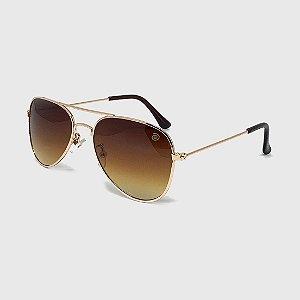 Óculos de Sol Infantil com Proteção UV400 Aviador Marrom
