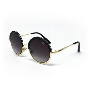 Óculos de Sol Infantil com Proteção UV400 Redondo Preto