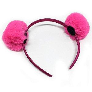 Tiara Pompom Pele Pink