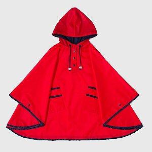 Capa De Chuva Lisa Vermelha