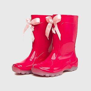 Galocha KidSplash! Pink com Fita Rosa Claro